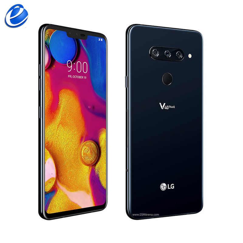 "Original Entsperren LG V40 ThinQ 6.4 ""6GB RAM 128GB ROM Android Octa Core dual vorne 3 hinten kameras Fingerprint NFC mobileSmartPhone"