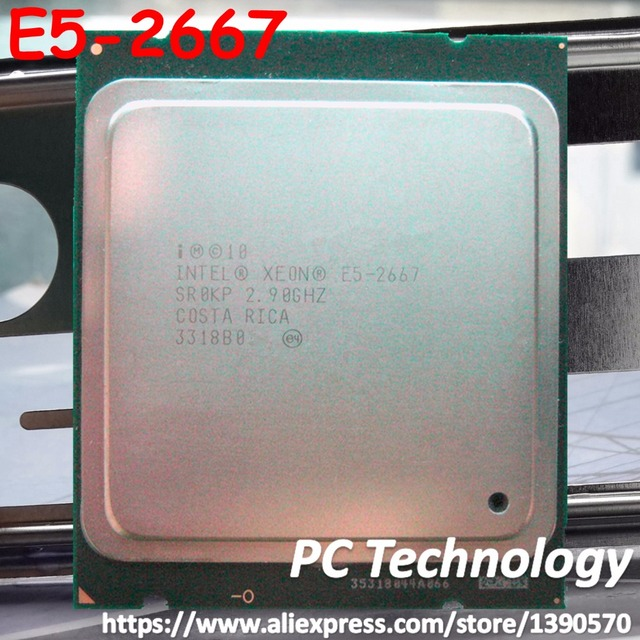 Original Intel Xeon Processor E5 2667 2.9GHz 6 cores 15M 8GT/s E5 2667 LGA2011 130W Server Processor SR0KP CPU free shipping