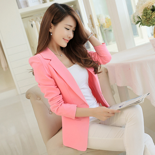 Compare Prices on Pink Blazer Jacket- Online Shopping/Buy Low ...