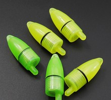 10 Pieces/Lot Luminous Sea Led Fishing Feeder Bell Green Light Signal Lamp For Salty/Fresh Water