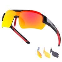 Wheel up nuevo diseño completo recubrimiento Gafas de sol MTB Road Bike Bicicletas Eyewear impermeable hombres polarizados Bicicletas Gafas UV400 3 lente