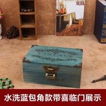 В новый блокировки zakka ретро деревянные для хранения окончания рабочего стола для хранения , чтобы сделать старый деревянный деревянный ящик