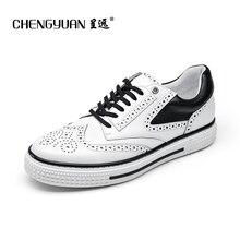 Для мужчин повседневная обувь на плоской подошве из натуральной кожи летняя обувь для мужчин люксовый бренд плоские удобные толстой плоской подошве Мужская обувь CY7100
