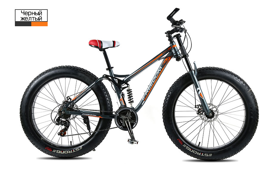 HTB1asbMXfvsK1RjSspdq6AZepXan Love Freedom High Quality Bicycle 21/24 Speed Mountain Bike 26 Inch 4.0 Fat Tire Snow Bike Double disc Shock Absorbing Bicycle