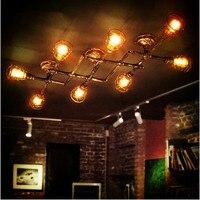 Стиль LOFT промышленного ретро Винтаж потолочный светильник для дома Освещение LED edison водопровод потолочный светильник plafonnier