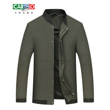 CARTELO Middle-aged Men's Business Jackets Slim Thin Spring Autumn New British Style Casual Stand Collar High Quality Coats