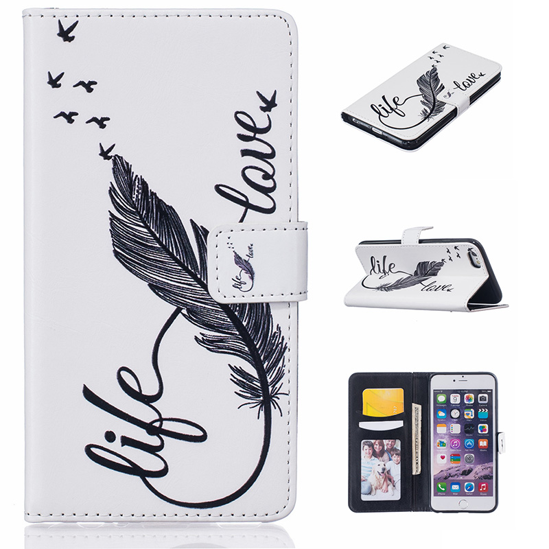 de6a4be779d flip PU leather cover For iphone 6 funda carcasa flower cake girl wallet  case for iphone 6s coque kryt etui tok fodral husa-in Flip Cases from  Cellphones ...