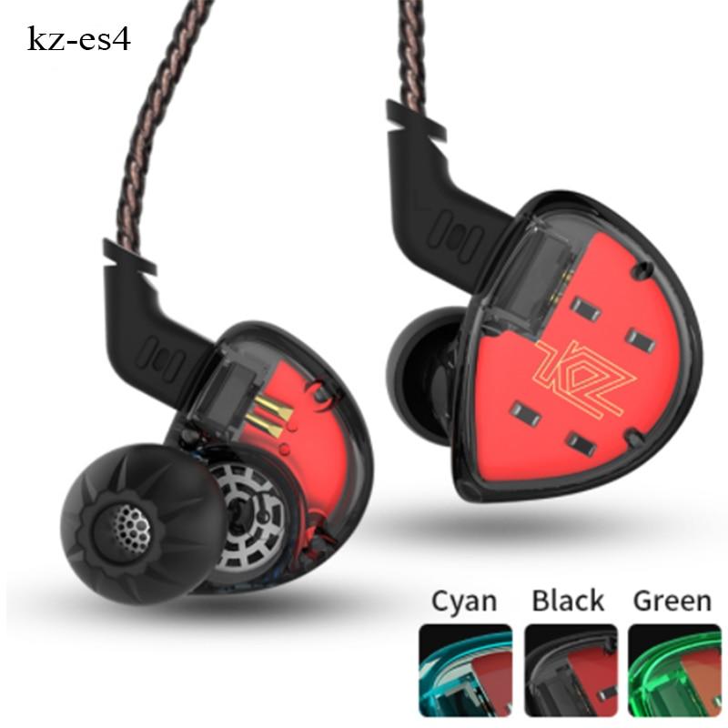 все цены на KZ ES4 In Ear Monitors Armature And Dynamic Hybrid Headset Ear Earphone Earbuds HiFi Bass Noise Cancelling Ear Hooks auriculares онлайн