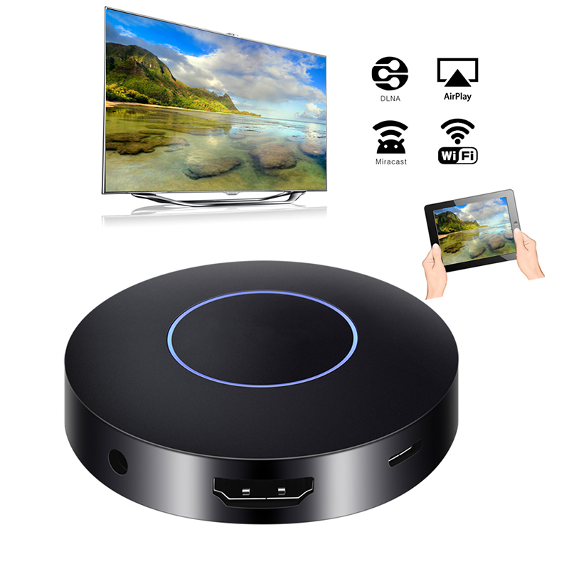 Mirascreen Q1 Sans Fil Miroir Dongle Multiples Dispositif AV + HDMI 1080 P Double Sortie WiFi Airplay Miracast Médias TV Bâton récepteur