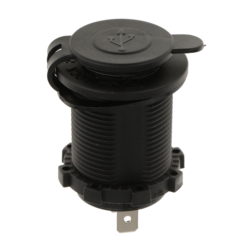 5V Dual Port Car USB Charger Power Outlet For Truck ATVs Car Boat Mobile Phones Digital Camera USB 2.0 Over-Charging Protection