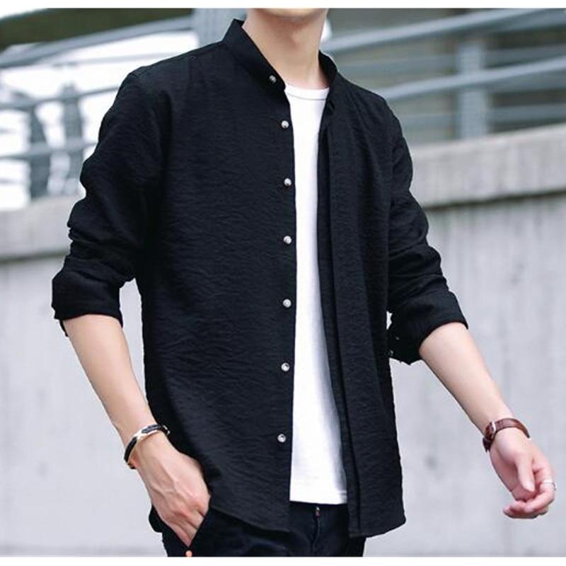 a773c0b1e1b 28-1 Summer thin stretch ice silk shirt men `s long sleeves Korean 28-2 33  28-3 28-4 28-5 ...