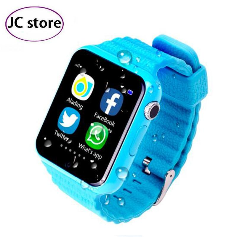 Children Security Anti Lost GPS Tracker smart watch V7K 1 54 With camera facebook Kids SOS