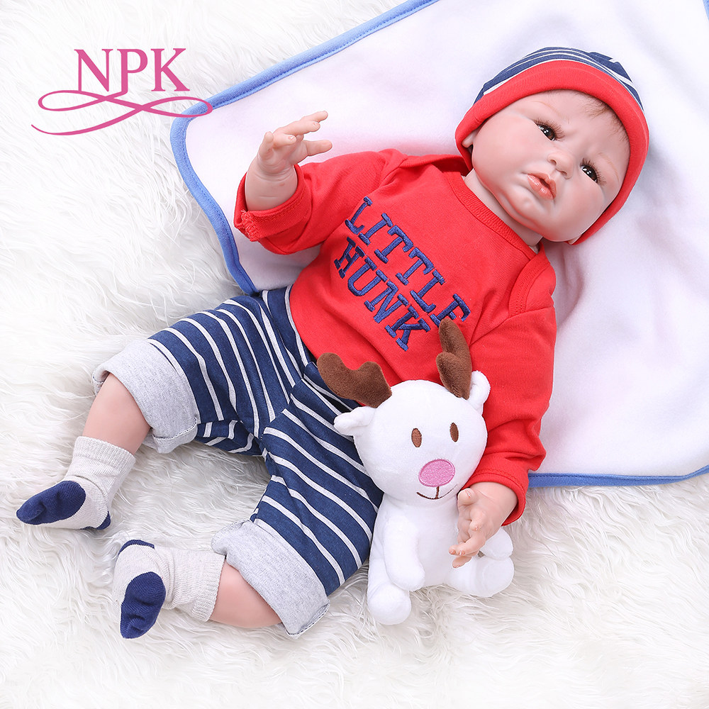 55 CM 0 3 meses bebé reborn realista muñeca suave al tacto-in Muñecas from Juguetes y pasatiempos    1