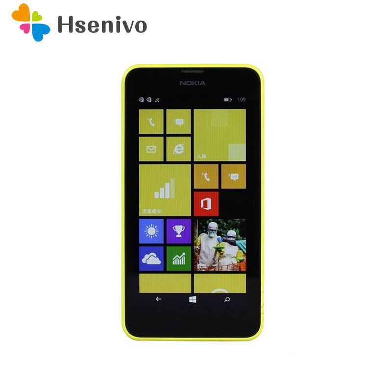 Original Nokia Lumia 630 Cell Phones 4.5 Windows Phone 8.1 Snapdragon 400 Quad Core 1.2GHz IPS 512MB+8GB Dual Sim Free shipping image