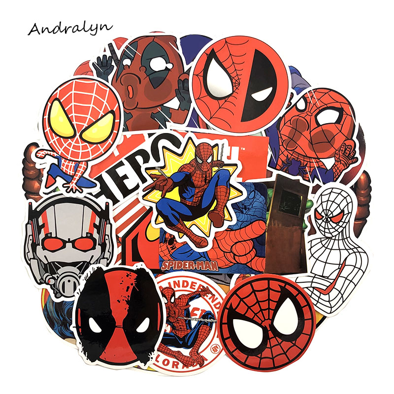 NEW 50pcs/set Marvel Graffiti Stickers Super Hero Stickers High Quality Waterproof PVC Stickers For Luggage Laptop Motorcycle(China)