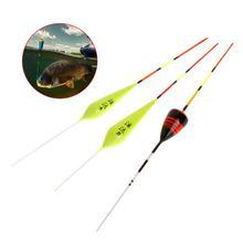 5 Pcs/set Fishing Float Small Fish Ice Carp Trout Fluorescent Shallow Water Shaft Wood Floats Stick Tackle Accessories