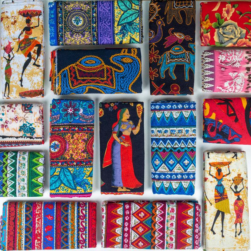 African fabric Cotton Linen vintage printing cloth DIY Handmade Textile Sewing Patchwork For Bags Dress tablecloth 150*50cm Сумка