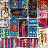 Tissu africain coton lin vintage impression tissu bricolage à la main Textile couture Patchwork pour sacs robe nappe 150*50 cm