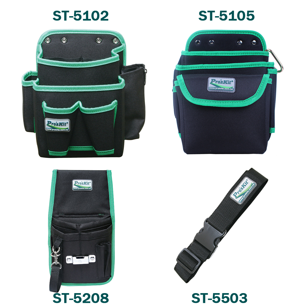 Pro'sKit Electrician Storage Tool Bags Multi General Purpose Tool Pouch Waist Belt  More Pocket Hand Toolkit Bag Waist Package