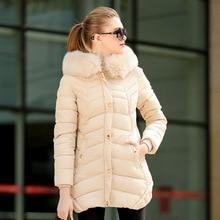 2016 Europe winter wave pattern cotton slim long ladies coat in a warm hooded long parkas new