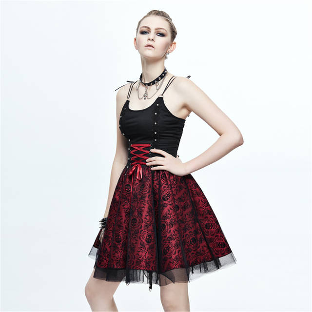 4eb8c06c144 placeholder Steampunk Women s Bandage Party Ball Gown Summer Gothic Skull  Printed Slip Formal Dress Halloween Costume