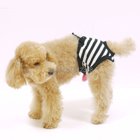Free Shipping Female Pet Dog Sanitary Pant Panty Striped Pattern Diaper Briefs Shorts S M L