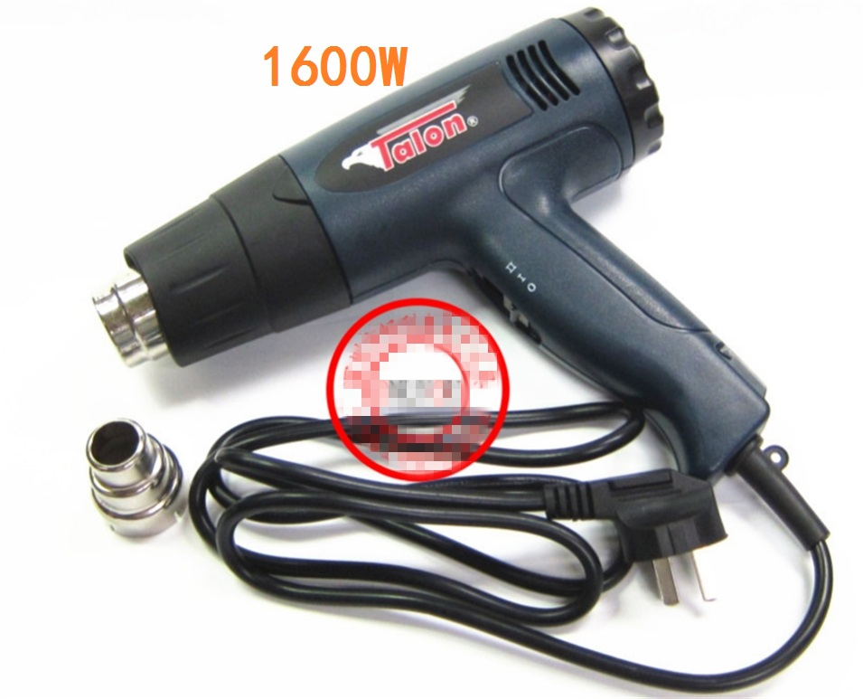1600W 1800W 220V Industrial Electric Hot Air Gun Thermoregulator LCD Heat Guns Shrink Wrapping Thermal Heater Nozzle lodestar 1800w 220v electric hot air gun handheld heat adjustable diy welding tool thermal heater hot soldering gun w nozzle