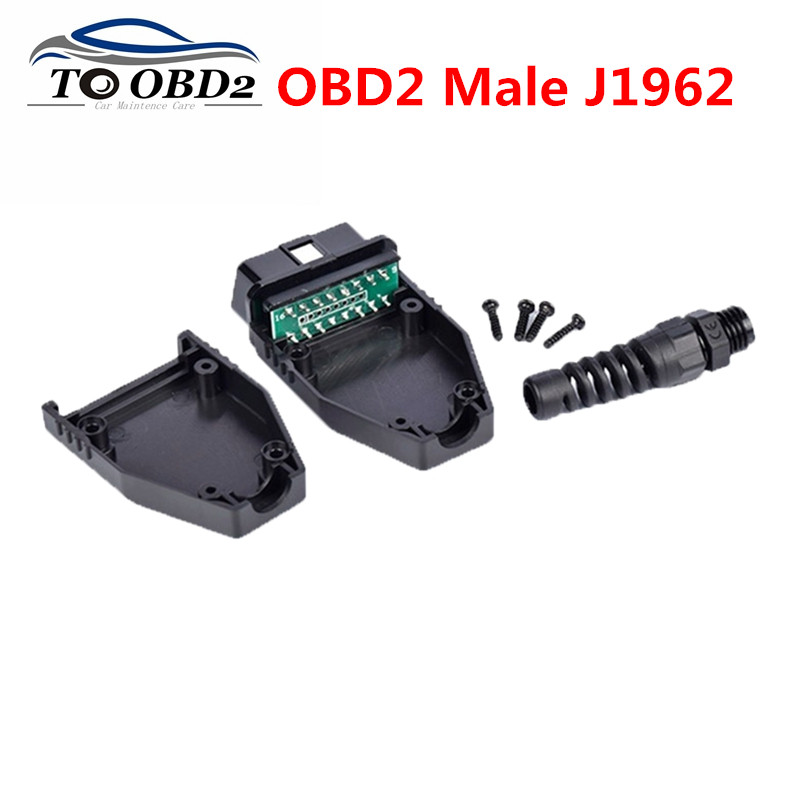 OBD Male Plug OBD2 16Pin Connector OBD II Adaptor OBDII Connector J1962 OBD2 Connector With PCB And NO PCB