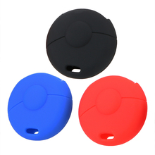 Car Key Cover Case Silicone Key Protect Bag For Benz Smart Fortwo Key Case Shell Auto Accessories Car-styling