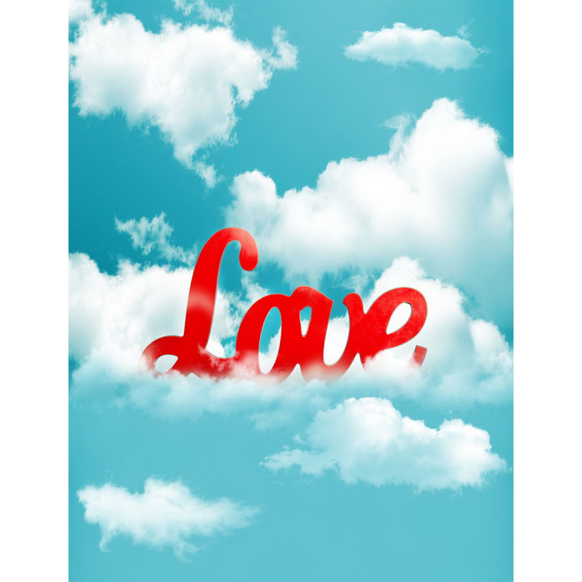 Vinyl Photography Background Computed Printed Clouds Love Valentines Day Backdrops for Photo Studio S-2476