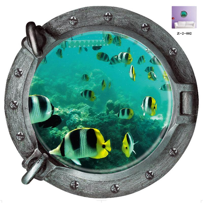 Decorative 3d Submarine Portholes Barthroom Toilet Wall
