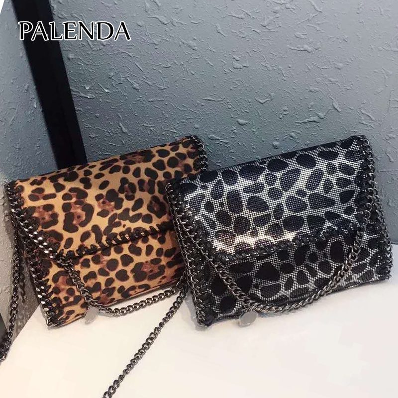 2018 new women messenger bag Leopard print design mini size bag 2 color chains around 5790 palace style red lace toddler princess party girls dress layers tutu kids dresses for girls wholesale baby girl clothes lot