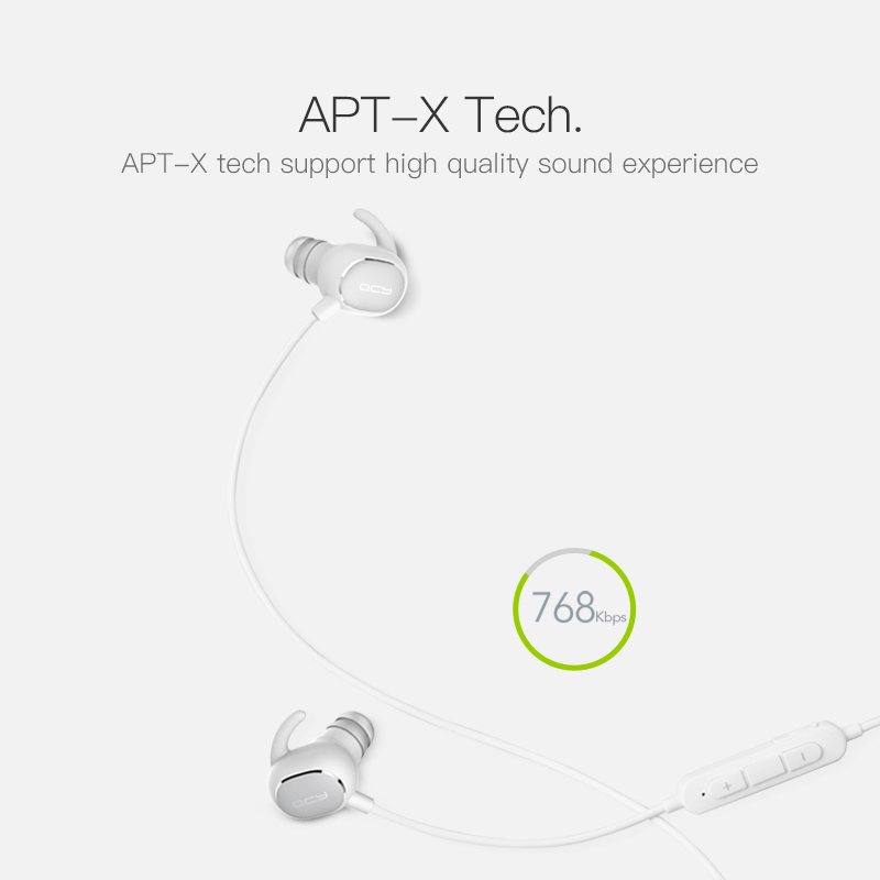 QCY QY19 Sports Bluetooth Earphones Wireless Sweatproof Headset Music Stereo Earbuds Bluetooth V4.1 with Microphone 6