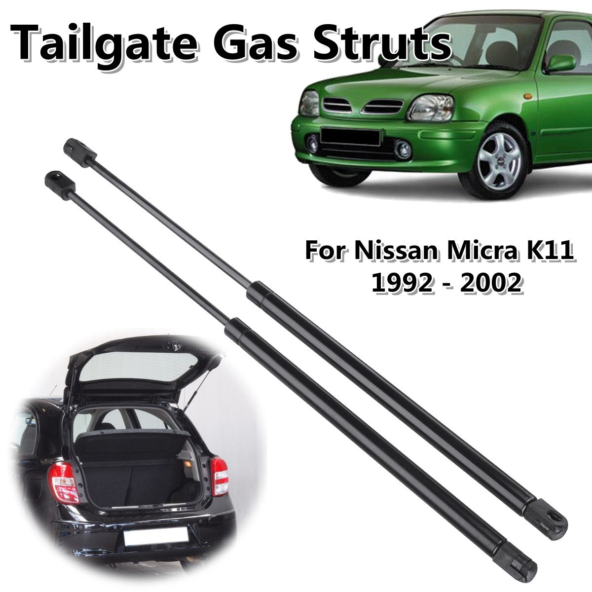 2pcs Rear Tailgate Truck Boot Gas Struts Support For Nissan Micra K11 1992-2002 904504F111 904504F110