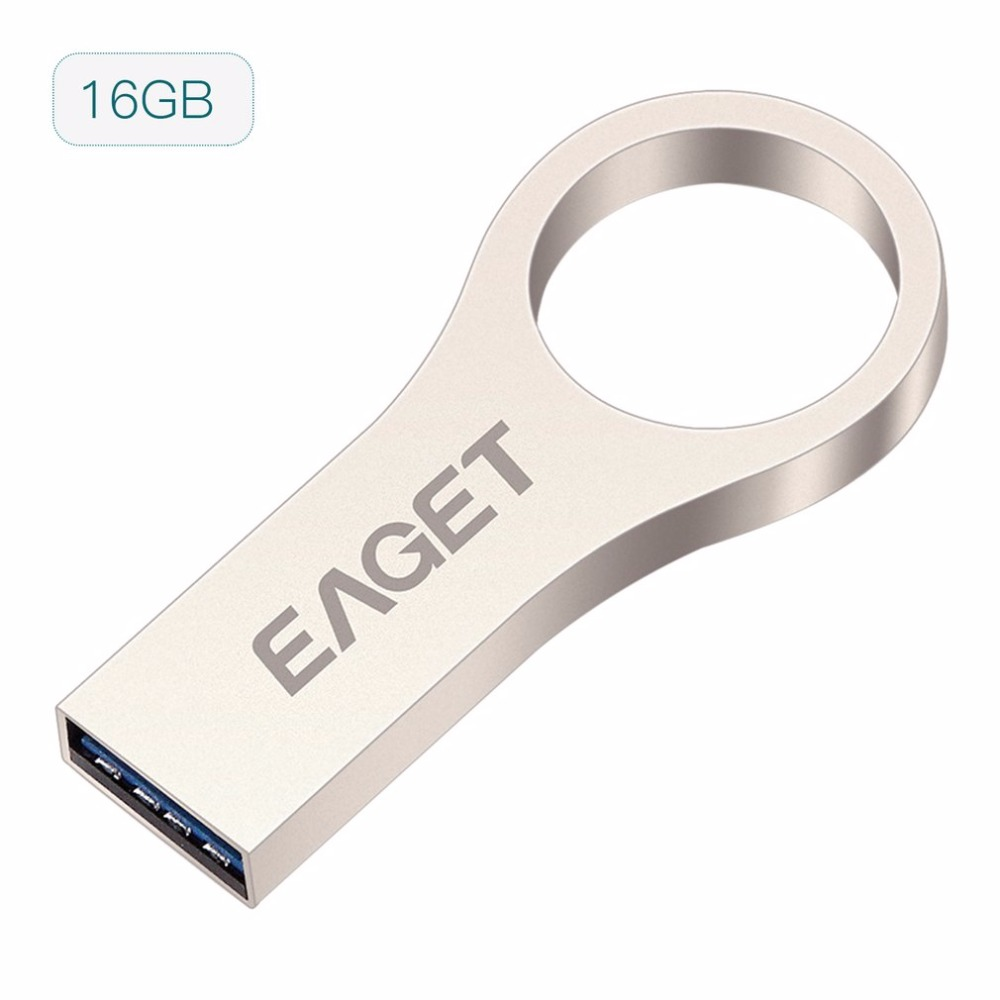 EAGET High Speed USB3 0 Flash Drive Memory Shockproof U Stick Metal External Storage Pendrive 16GB
