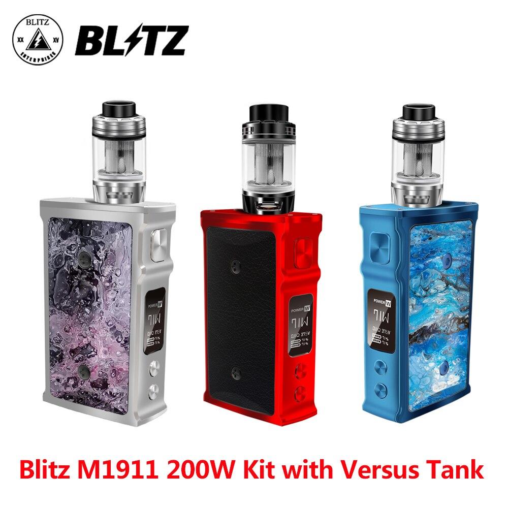 Le plus nouveau Kit de vaporisateur Blitz M1911 200 W TC Vape avec 5.5 ml contre le réservoir TC mod par 18650 kit de cigarette électronique vapeur vs glisser 2 glisser mini