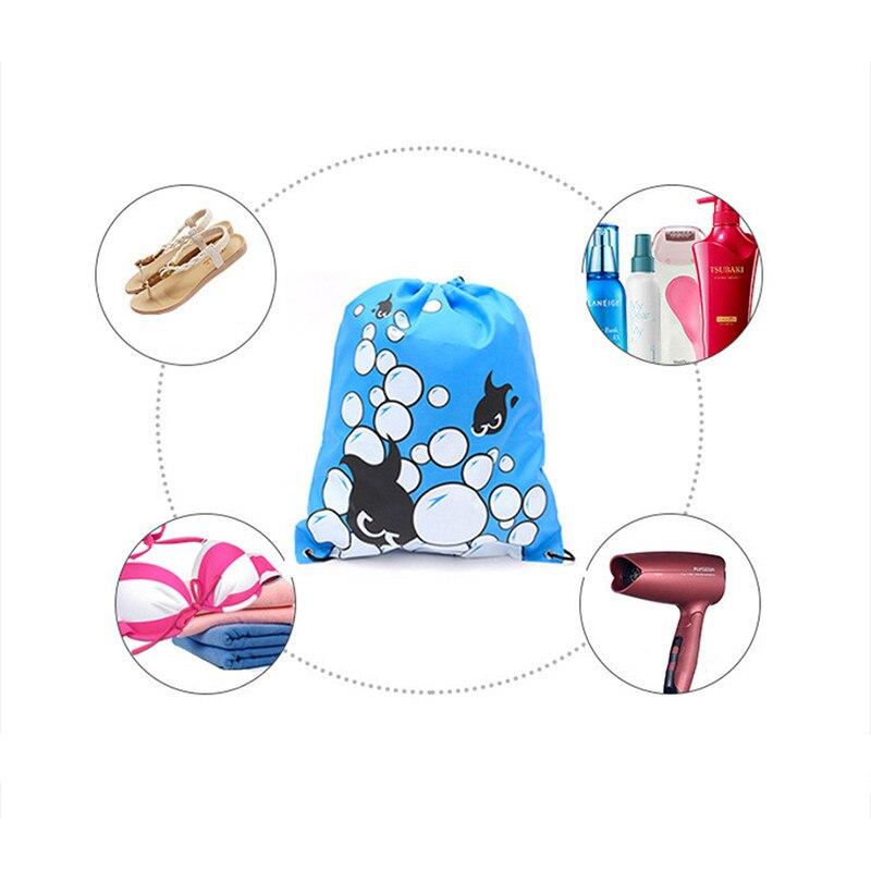 Multifunctional Custom Beach Bag Storage Bag Beam Pockets Shoes Handbag Drawstring Backpack Travel Shoulder Messenger Bag Ghmy Moderate Price Storage Bags Home Storage & Organization