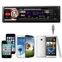 In Dash Car Audio Bluetooth Stereo Head Unit MP3 USB SD AUX FM Input AUX