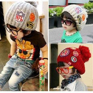 2015 New Korea Fashion Baby Hat Knitted Winter Caps Beanies Children Boys Hats, Free Shipping GJ2919