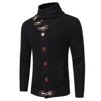 2019 Autumn Winter Male Warm Thick Hedging Turtleneck Sweater Cardigan Men Brand Sweater Casual Slim Sweaters 3XL