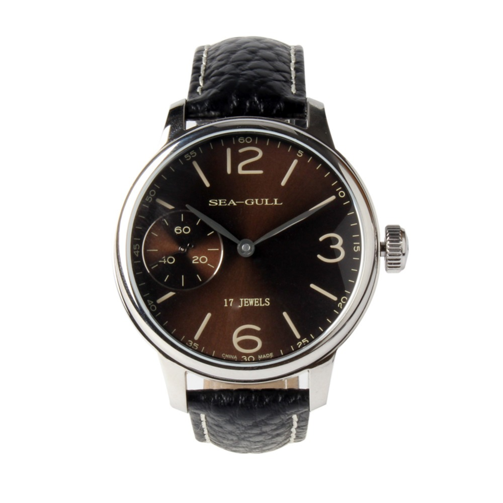 Seagull Small Second Coffee Dial Large Numerals ST36 Movement Mechanical Hand Wind Men s Watch Sea