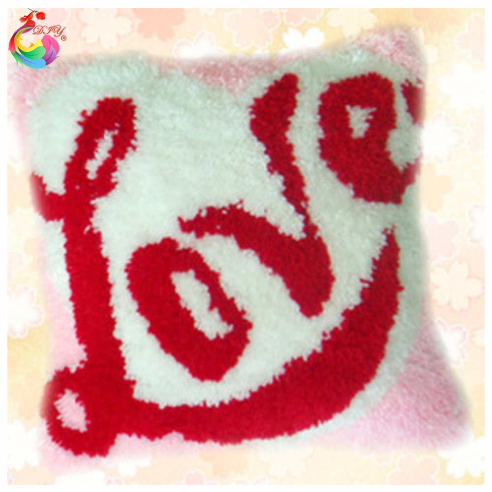 2016 3D Latch Hook Pillow Kits Pink Love Heart DIY Needlework Crocheting Rug Kits Yarn Handmade Unfinished Embroidery Pillowcase2016 3D Latch Hook Pillow Kits Pink Love Heart DIY Needlework Crocheting Rug Kits Yarn Handmade Unfinished Embroidery Pillowcase