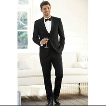 mens black suits for wedding tuxedo for men bridegroom suits custom made suit prom wear 2016