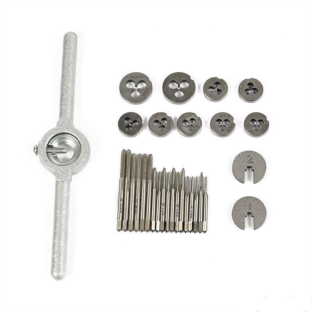 31pcs Mini High Speed Steel Metric Tap And Die Set with Box For Model Making Watchmaker 60 pcs set tap and die sets m3 m12 metric screw plugs taps
