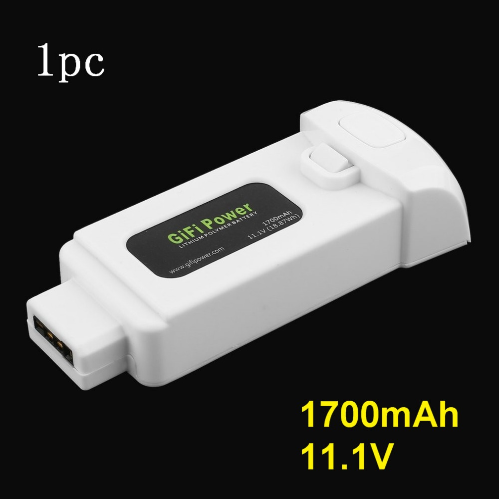 Gifi Power 11.1V 1700mAh 18.87Wh Lithium Polymer Battery for Yuneec Breeze Drone Lightweight Replacement Power for Flying CameraGifi Power 11.1V 1700mAh 18.87Wh Lithium Polymer Battery for Yuneec Breeze Drone Lightweight Replacement Power for Flying Camera
