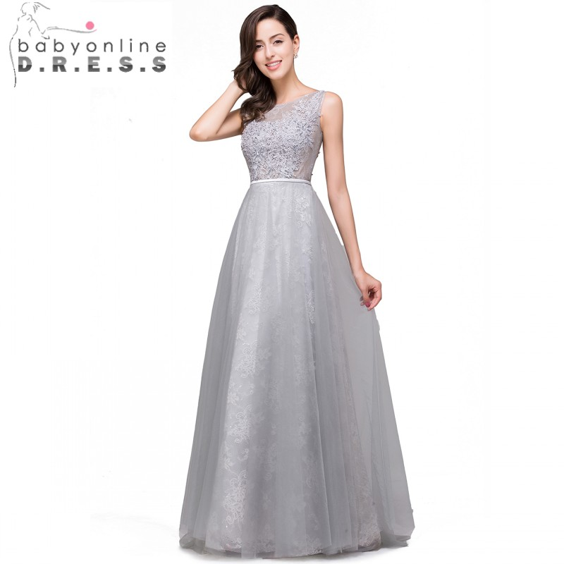 Popular Grey Evening Gowns-Buy Cheap Grey Evening Gowns lots from ...