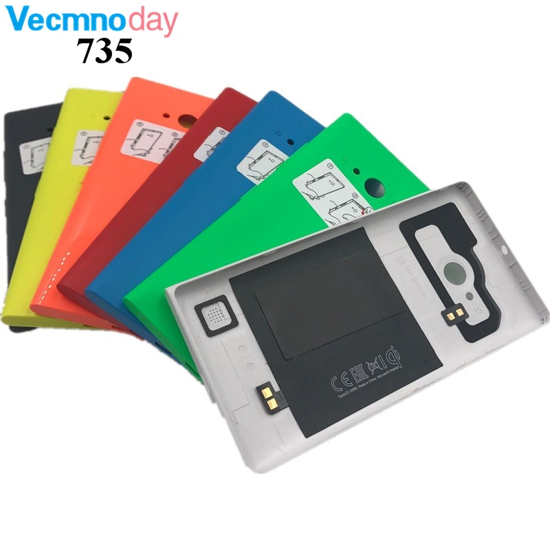 Vecmnoday Mobile Phone Housing For Nokia Lumia 735 Battery Cover Case Back Housing With NFC And Wireless charging
