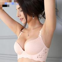 BRZFMRVL Sexy Seamless wire free bra full cup Minimizer push up bra no rims ultra thin sexy women bra one piece lovely bra