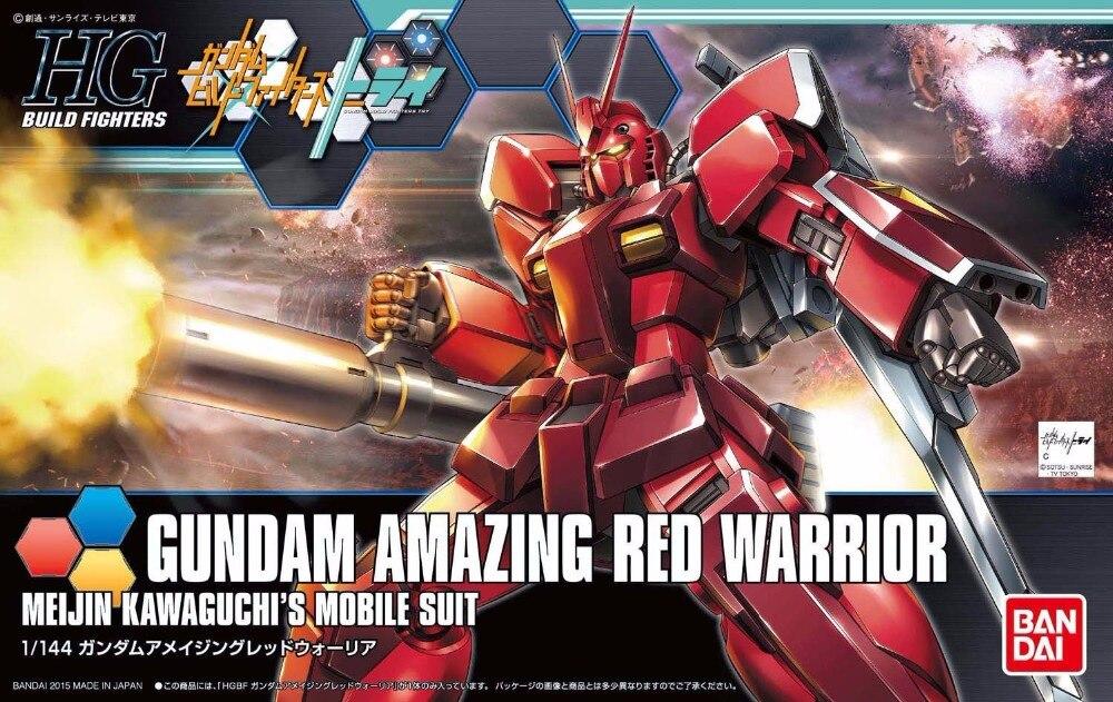 1 PCS Bandai HG Build Fighters HGBF 026 1/144 Gundam Amazing Red Warrior Mobile Suit Assembly Model Kits HOT KIDS TOYS Robot ohs bandai mg 179 1 100 sengoku astray gundam mobile suit assembly model kits