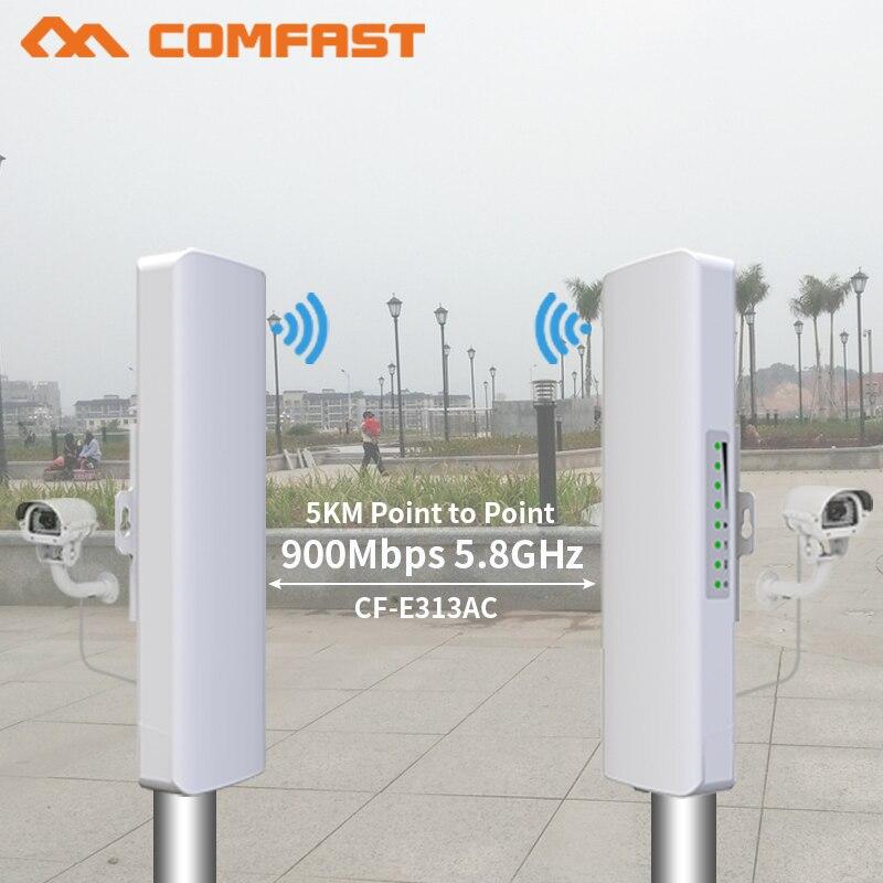 2 pièces 3-5 km 900 Mbps Longue portée Haute Puissance Extérieure CPE répéteur wi-fi 5.8 GHz Sans Fil routeur wifi AP antenne Pont Nano station AP